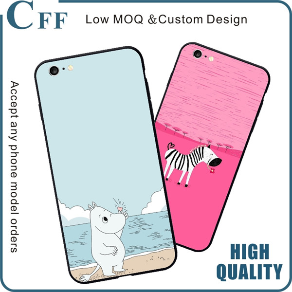 2017 For Online Phone Case Store Fresh Unique Design Case for iPhone 7 Black PC + TPU Case for Samsung A3 A5 A7 2017