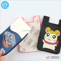 wholesale id card holder cell phone sticker credit card holder wallet 3m sticker silicone card holder