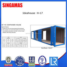 45ft Prefab Container House Refugee Camp