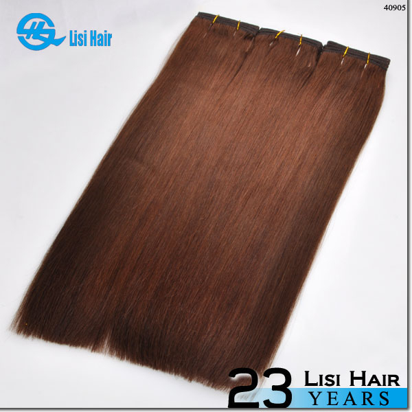 100% Remy Brazilian Human Hair Extensions number 2 hair color weave