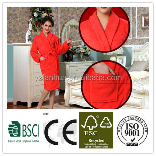 2015 trendy sleepwear hot sale polyester Bathrobes quotation in FOB