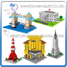 Mini Qute Kawaii WISE HAWK 5 styles White House kids diamond plastic Building blocks model brick educational toy