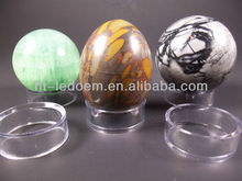 acrylic Easter eggs display holder,Clear Acrylic Egg Sphere Ball Round Display Stand
