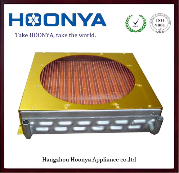Copper fin heat exchanger condense with cover