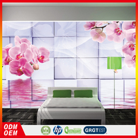 stereoscopic design lovely flower photo 3d wallpapers for interior