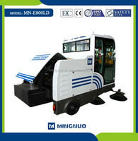 E800LD CE advance cleanning machine,CE approved industrial vacuum parking lot discharging sweeper