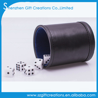 Traditional Professional PU Leather Dice Game