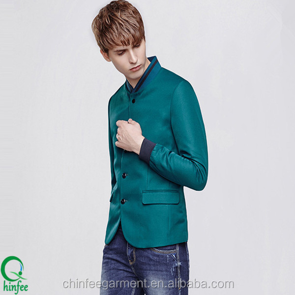 New Design Mens Cotton Slim Casual Blazers Suits