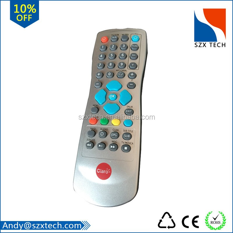 Universal satellite receiver remote control with download tv