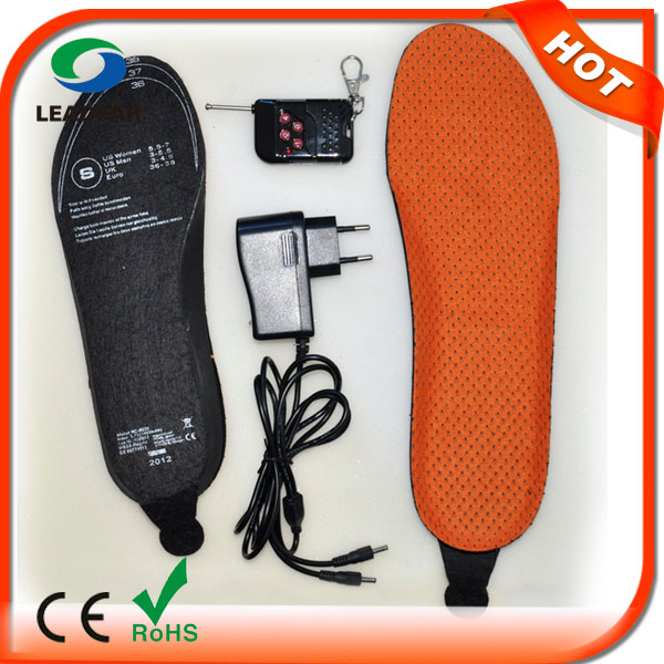 Foot Warmer Rechargeable Battery Powered Heated Shoe Insole