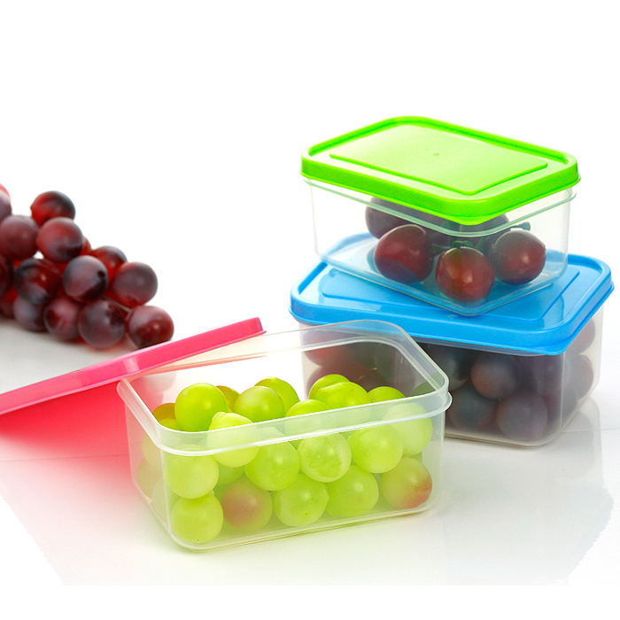 2pcs/lot Plastic Food Storage Box Crisper Save Space Food Container Keep