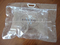 PVC plastic pillow bag for packaging/promotion with logo and eye ring hole