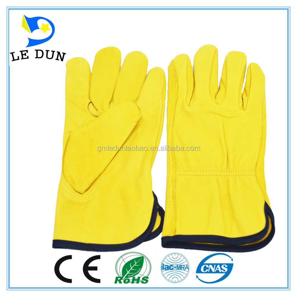 Driving gloves wholesale - Work Hand Safety Gloves Cowhide Leather Driving Gloves Wholesale Goat Leather Glove
