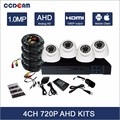 Hot selling AHD CCTV 720P Plastic dome cctv ahd camera kit surveillance