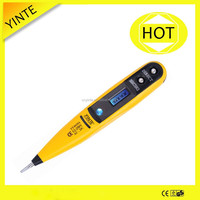 China manufacturer AC.DC12-250V LCD dispaly Non-contact digital electric tester pen/detector