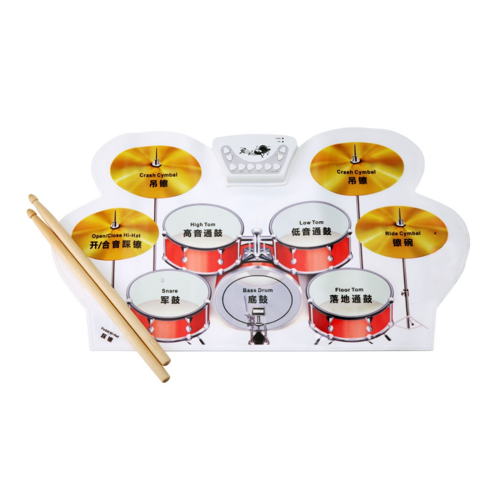 Flexible Kid Toy Roll up Drum Virtual Flexible Drum With Midi Function And Material Silcone Game Drum Kits as gift for Child