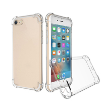Wholesale Soft clear TPU colorless mobile phone anti knock shock cases for iPhone X 8 Plus