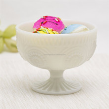New jade glass sugar bowl coconut bowl glass candy bowl for home use