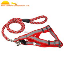 Puppy Dog Safety Harness Lead Set Reflective Breathable Padded Dog Leash Collar