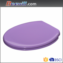 High gloss purple toilet seat with soft close hings