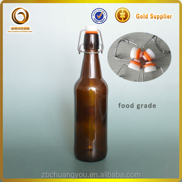 50cl amber glass beer bottle