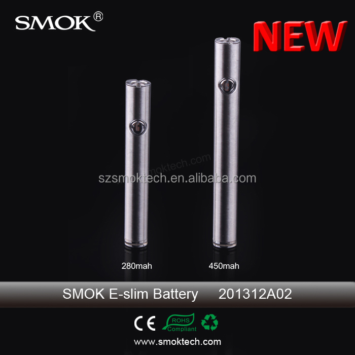 2014 hot sale e cigarette e-slim battery innovative new products best e cigs battery