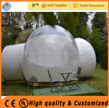 High quality outdoor camping tent / transparent bubble tent / inflatable camping tent