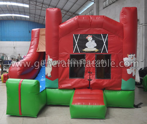Farm jumper kids used commercial inflatable bounce castle houses