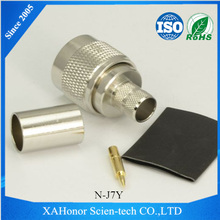 Connector rf uhf male to mini female adaptor for RG11 connector