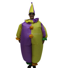 funny inflatable costume, inflatable clown costume for sale,performance inflatable costume for adult