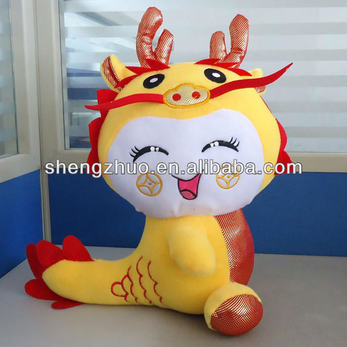 hot sale soft and stuffed plush dragon toys