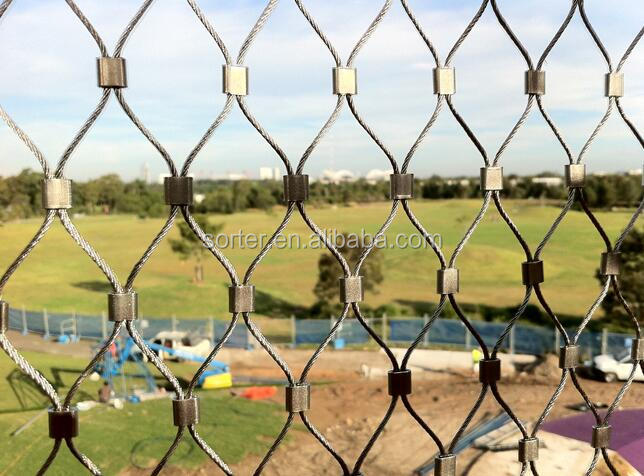 Stainless Steel wire rope bird netting/zoo Enclosure Wire Mesh