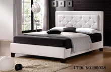 2015 italy design bedroom furniture Queen or King white PU leather bed
