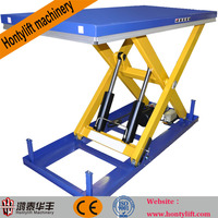 CE china supplier offers 500kg cheap hand hydraulic round table trolley weight lifting trolleys