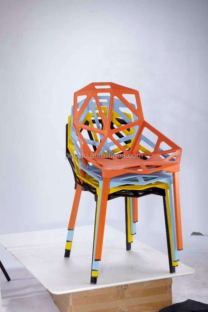 Cheap Colorful Plastic Armless Chairs