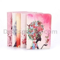 Diamond Studded Magnetic Buckle Stand PC+PU Leather Case for iPad Mini/2/3 Retina