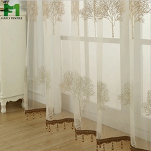 tulle curtains luxury embroidered white sun reflecting window curtain