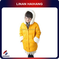Hot sale 2014 fur collar down filled clothes turkey wholesale children clothes