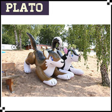 Beach inflatables giant wolf,husky,kwisa rideable inflatable animals for sale
