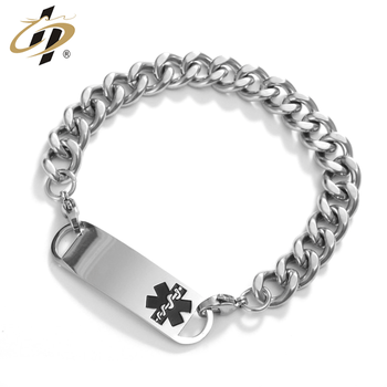 Wholesale stainless steel metal silver ornaments chain bracelets for men