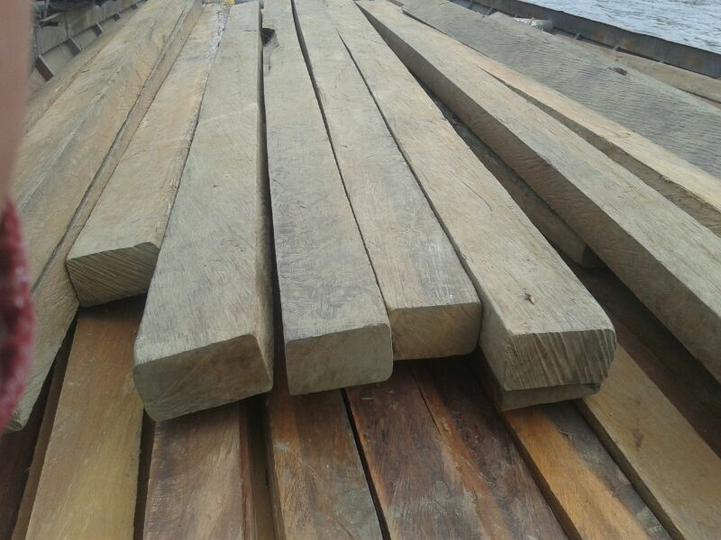 Ipe (Tabebuia spp) blocks, squared logs