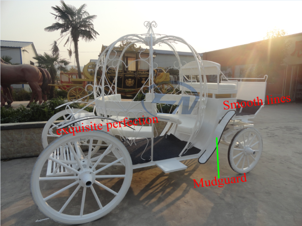 Pumpkin carriage for wedding horse drawn carriage with LED lights exported to Lebanon