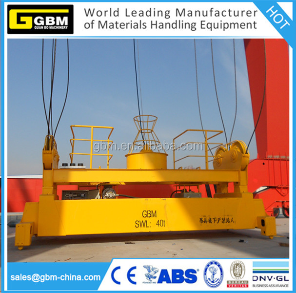 GBM rotating telescopic spreader hydraulic spreader beam for ISO 20ft 40ft 45ft container with BROMMA ZPMC Quality