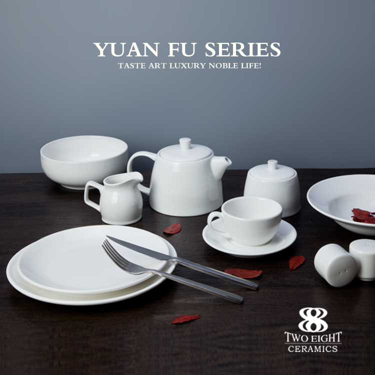 Wholesale hotel used dinner plates set, ceramic bowl set, ceramic crockery sets