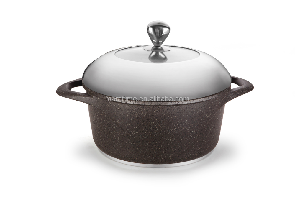 Dishwasher safe die cast aluminum cookware
