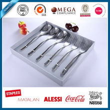 SS304 3pcs coffee spoon with 3 pcs dessert fork packed in gift box