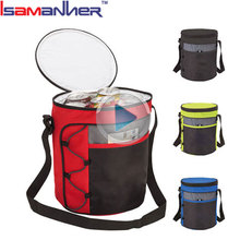 Waterproof polyester 12 cans collapsible cooler custom beer storage cold bag
