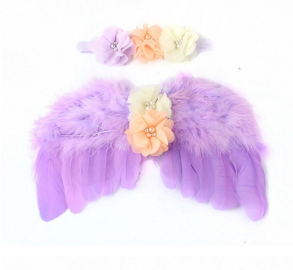 New Infant Newborn Baby Angel Fairy Feather Wing Costume Photo Prop For Children's Day Gift
