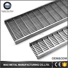 2017 new product MOQ=10pcs garage floor grate drains, custom length drainage channel