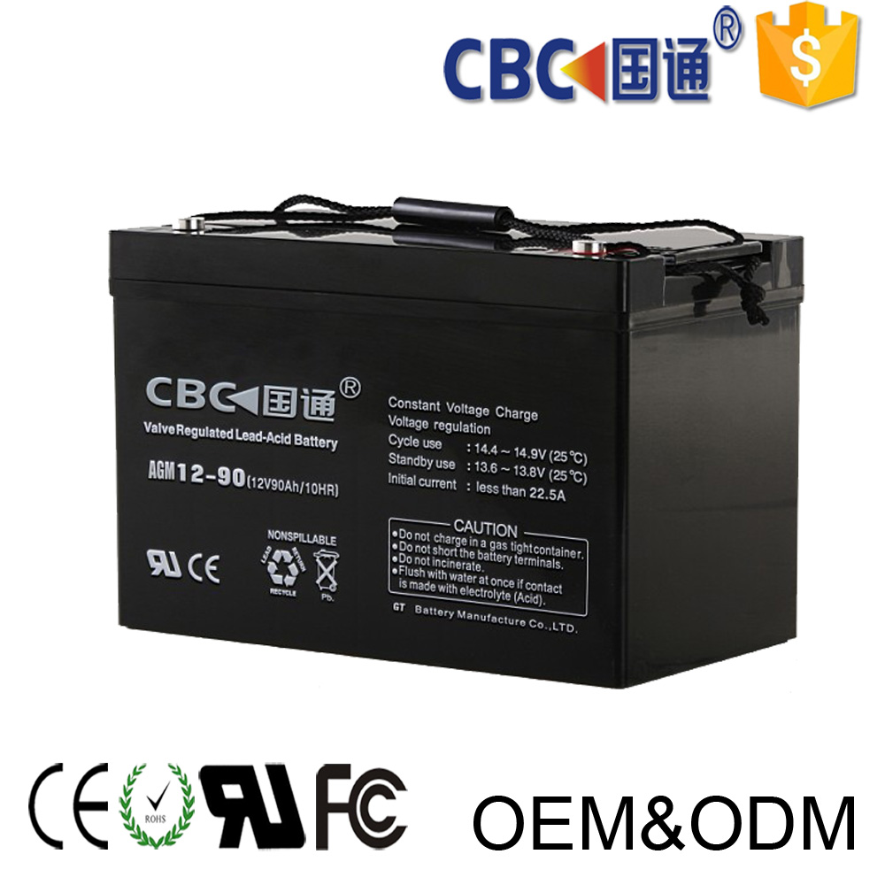 CBC Guotong rechargeable battery for UPS battery lead acid battery 12v90ah